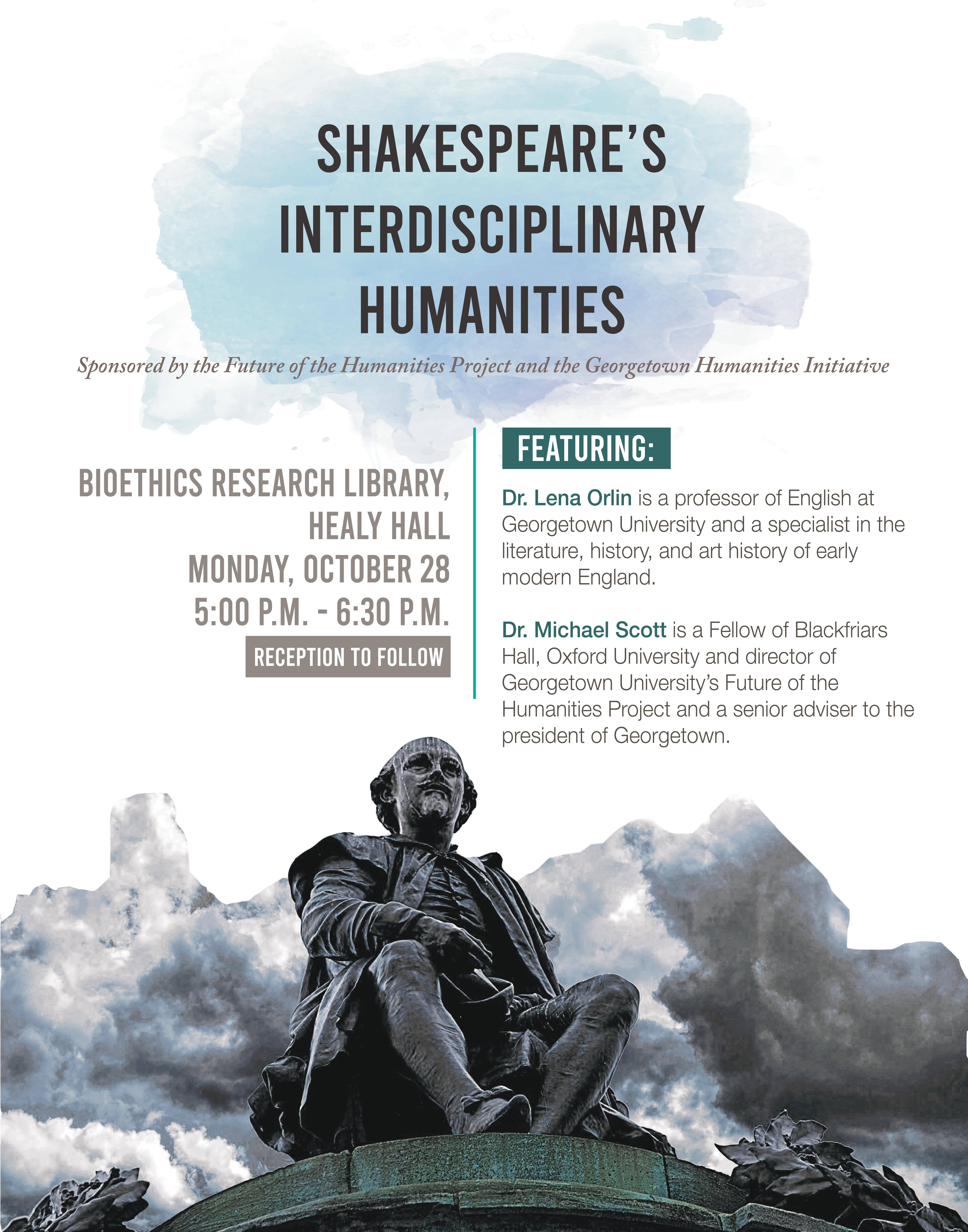 Event at the Bioethics research Library in  Healy Hall, on October 28, 5 to 6:30pm.